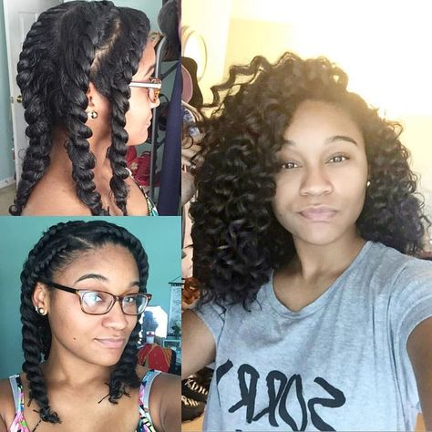 Naturel Hair Care  : By @_kharissa  Literally the only flat twist out I've ever done tha