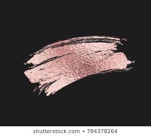 Rose Gold Foil Brush Mascara Stroke Pink Sparkle Glossy Metallic Grunge Or Smudge Paint Texture I Rose Gold Brushes Rose Gold Painting Gold Glitter Background