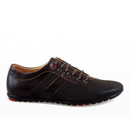 Polbuty Meskie Lucca Brazowe Polbuty Wizytowe Lucca Dress Shoes Men Oxford Shoes Dress Shoes