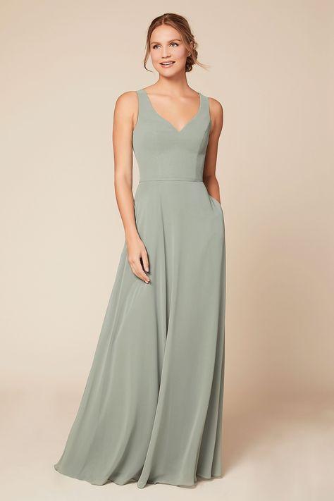 Kylie Bridesmaid Dress | Dear Cleo Olive Green Bridesmaid Dresses, Bridesmade Dresses, Bridesmaid Dress Styles, Wedding Dresses, Bridesmaid Colours, Sage Dresses, Prom Dresses, Sage Green Dress, Sage Wedding