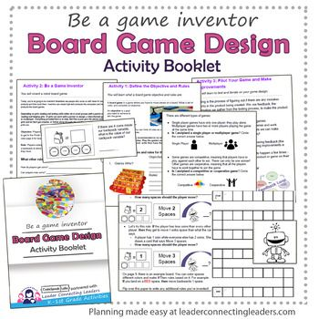 Daisy Girl Scout Board Game Design Challenge Activity Booklet