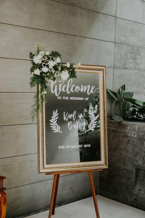 Welcome Board from the Wedding of Bailey & Karl