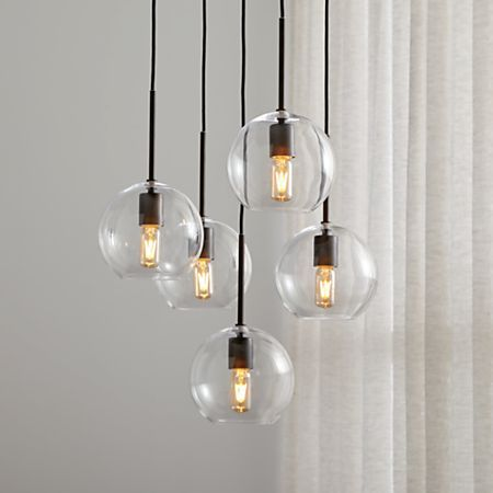 Jamie Cluster Pendant Light Reviews Crate And Barrel Cluster