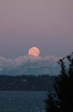 Moon over the mountains♥