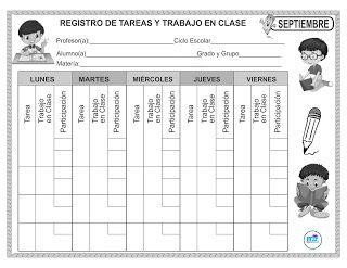 Formato Registro De Tareas Y Trabajo En Clase Registro De Tareas Registros De Lectura Trabajo En Clase