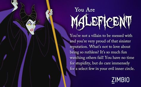 I took Zimbio's Disney villains quiz and I'm Maleficent! Who are you?