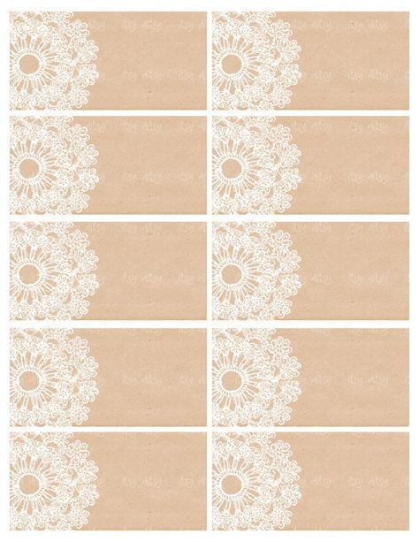 Rustic favor tags Lace Doily wedding favor by itsyditsydesigns