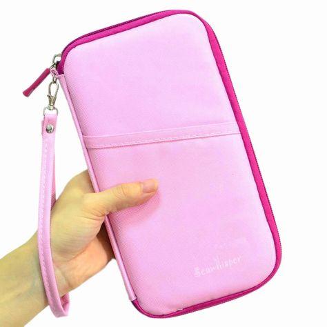 f46e4709e Amazon.com  Seawhisper Durable Waterproof Nylon Travel Bag Document Wallet  with Hand Strap Passport Credit ID Card Cash Travel Wallet Clutch Purse  Holder ...
