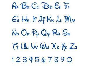Walt Disney Machine Embroidery Font