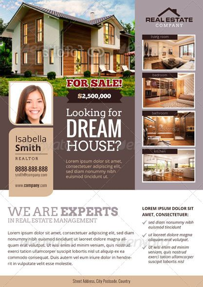 Simple Real Estate Flyer Template Dtp Ideas Pinterest Real