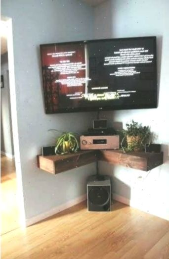 90 Most Popular Wall Mount Tv Ideas For Living Room 4650 Walltvdesignideas Wall Mounted Tv Unit Corner Tv Wall Mount Diy Corner Shelf