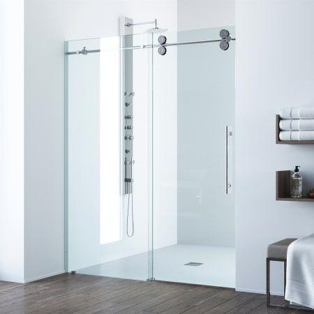Vigo Vg60416874 Sliding Shower Door Shower Doors Frameless Bypass Shower Doors