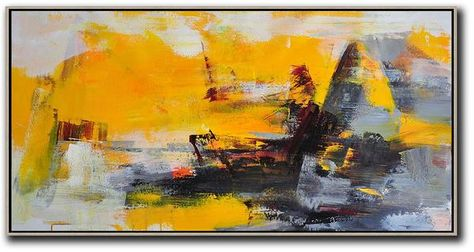Panoramic Palette Knife Contemporary Art #C45D