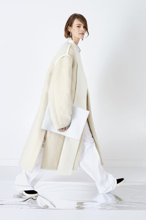 Contemporary Fashion - oversized coat with contrasting fabrics // Ports 1961 Pre-Fall 2016