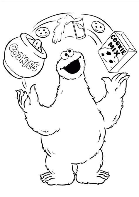Print Coloring Image Momjunction Monster Coloring Pages Sesame Street Coloring Pages Monster Cookies