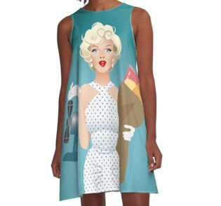 La mujer» de AleMogolloArt | Redbubble | Summer dresses