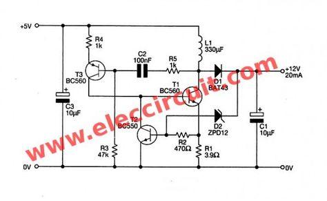 USB 5v to 12v dc-dc step-up converter circuit | Dc dc ...