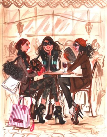 women in paris with their dogs and high heels | MY FRENCH COUNTRY HOME