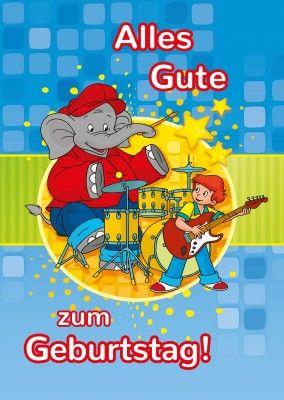 Benjamin Blumchen Geburtstagskarte Postcards Online Cards