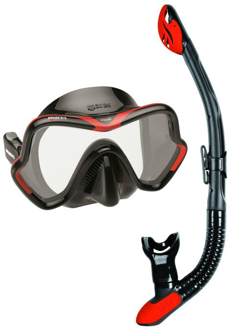 One Size Black Mares Unisexs Vento Diving Mask