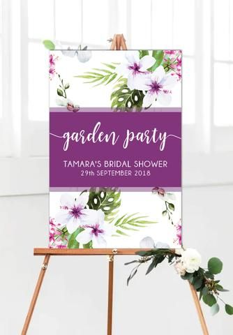 Garden Party Welcome Sign 60 X 90 Cm Portrait Welcome Sign Garden Party Party