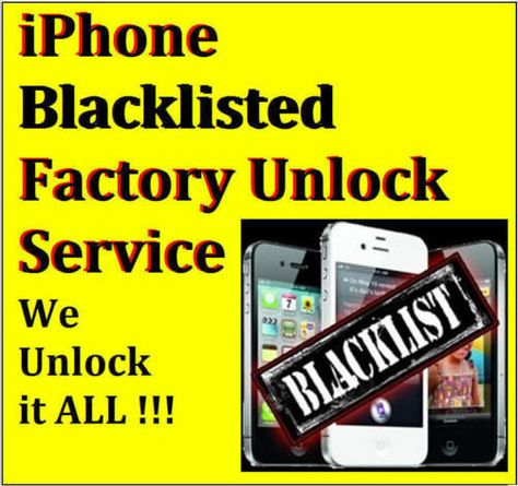 100% Premium Unlock Service BLACKLISTED CONTRACT AT&T ATT iPhone 5s 5c 5 4s 4 3g | Sprint iphone ...