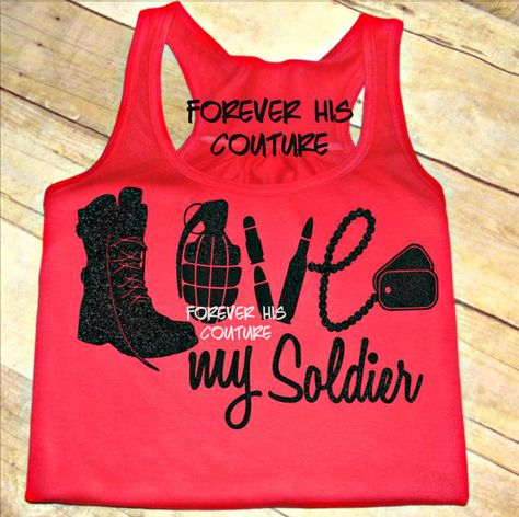ARMY Love racerback tank Army Girlfriend Army by ForeverHisCouture