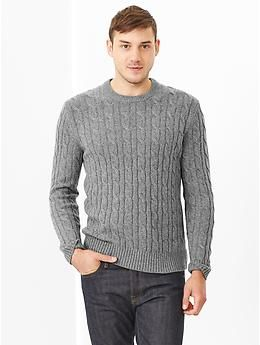Lambswool cable knit sweater | Gap | A man, a plan, a canal ...