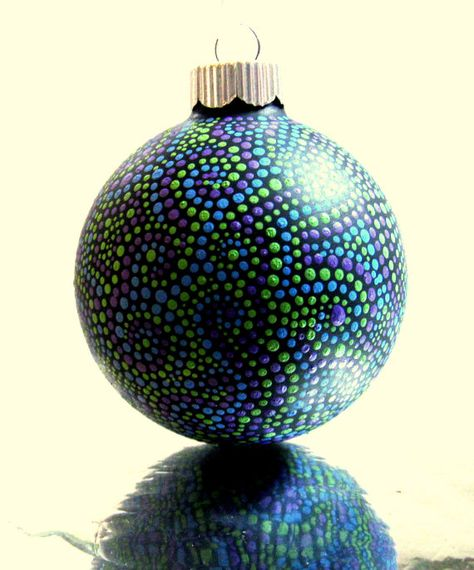 ornaments with hand-painted dots