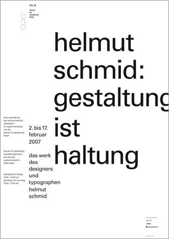 Helmut Schmid Design Is Attitude Basel Attitude Basel Design Helmut Schmid Helmut Schmid Plakat Schule Fur Gestaltung