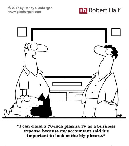 Office Humor Itu0027s Tax Time! Is Your TV a Business Expense - expense reports