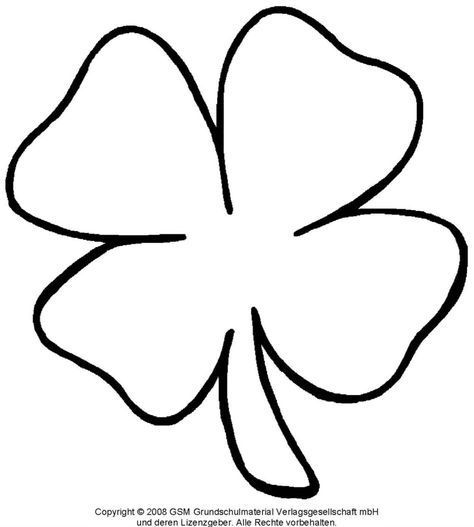 Kleeblatt Zum Ausdrucken Vorlagen Blumen Basteln Kleeblatt Basteln Basteln Silvester