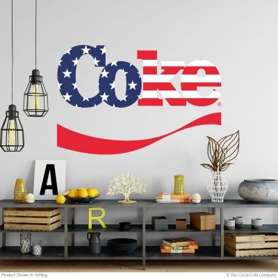 coke wave stars and stripes decal patriotic cut out in 2018 | coca