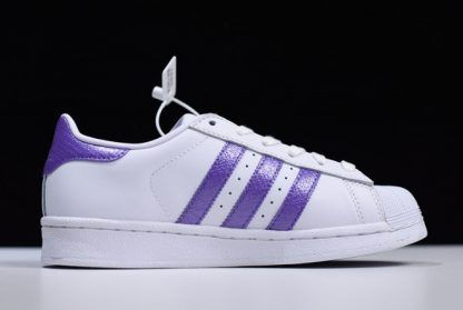 Buy adidas Superstar White Purple Women's Shoes EE9152