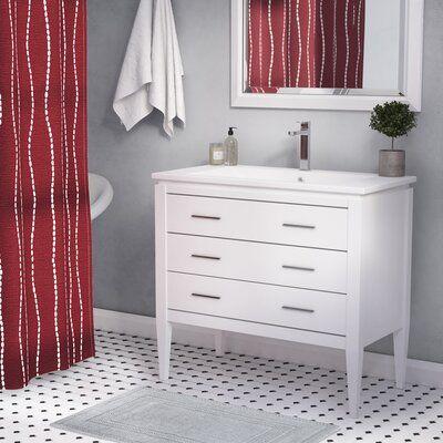 Wrought Studio Bourdeau 35 Single Bathroom Vanity Set Base Finish