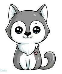 dessin de loup kawai - Recherche Google   Dessin kawaii animaux, 365  dessins kawaii, Dessin de chien