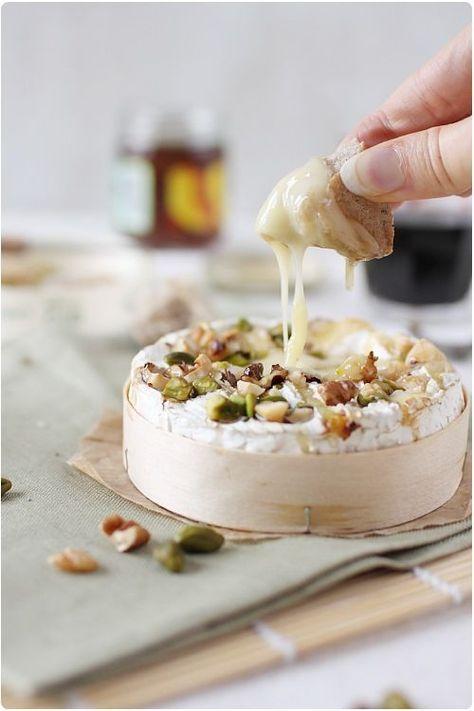 Camembert Roti Au Four Miel Et Fruits Secs Recette Recettes