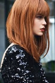 long a-line with bangs... I'm trying to grow my hair out for this!! Except in cotton candy pink of course :)