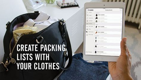 Create a packing list and outfit log with images of your real clothes - Stylebook #fashionapp  #traveltip #packing #carryon