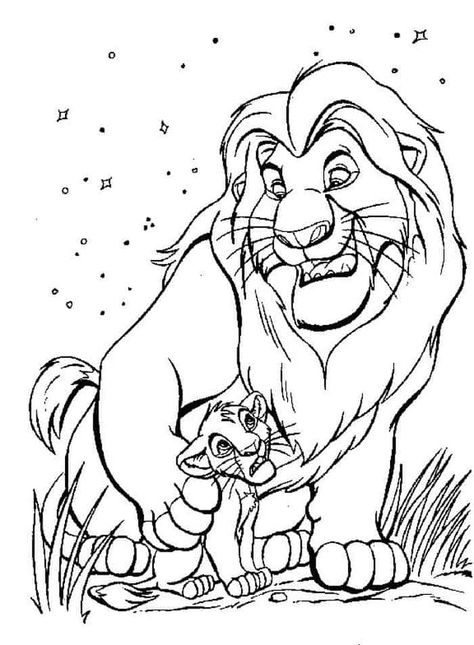 Cartoon Lion King Coloring Pages For Kids En 2020 Con Imagenes