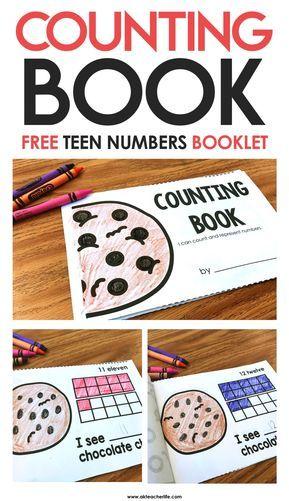 Teen Numbers Counting Book | Math | Teen numbers, Preschool