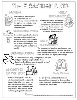 Free Catholic The 7 Sacraments Poster Coloring Page ...