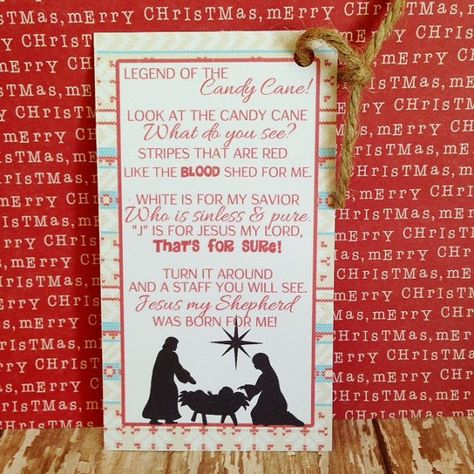 legend of the candy cane printable by simplysweetpartyshop $5