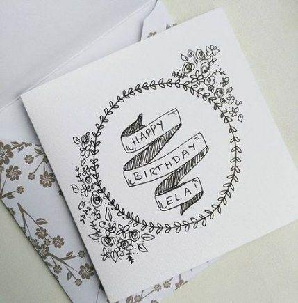New Birthday Card Simple Sketch Ideas Birthday Birthday Card