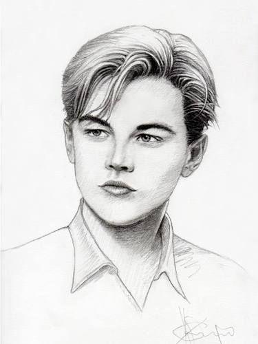 Leonardo Dicaprio Drawing Dibujos De Famosos Dibujo De Personas