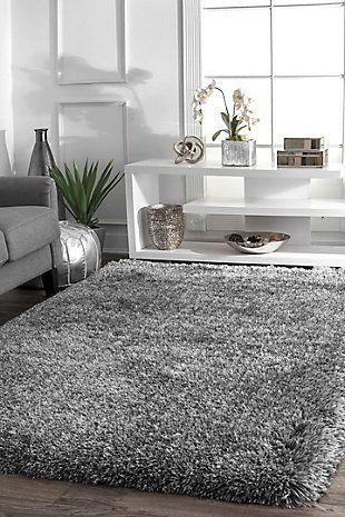 Nuloom Hand Tufted Kristan Shag 7 6 X 9 6 Area Rug Gray Rugs In Living Room Living Room Carpet Room Carpet