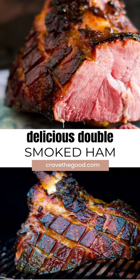 Traeger Recipes, Smoked Meat Recipes, Grilling Recipes, Pork Recipes, Traeger Smoker, Double Smoked Ham Recipe, Smoked Ham Glaze, Smoked Ham Rub Recipe, Recipes
