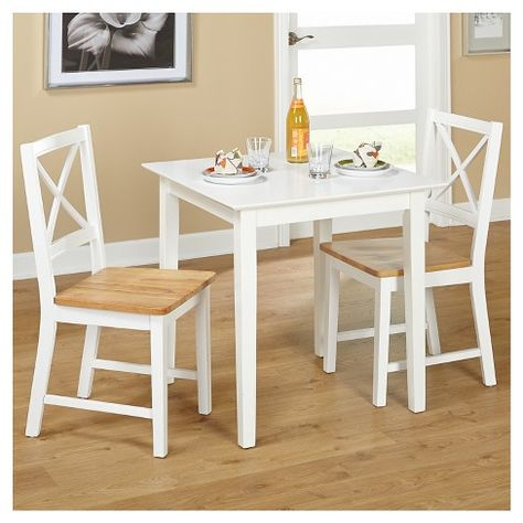 Cross Back Dining Set White 3 Piece Tms With Images Cross