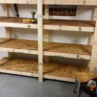 Build Easy Free Standing Shelving Unit For Basement Or Garage Diy Storage Shelves Diy Garage Shelves Wooden Shelving Units Free standing wooden shelf