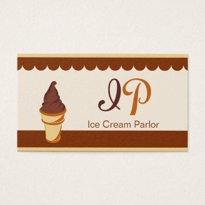 Chestnut Chocolate Brown Ice Cream Business Card Zazzle Com Ice Cream Business Diy Business Cards Ice Cream